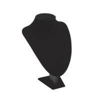 Поставка за бижута черен велур