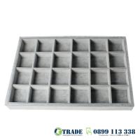 Табла за бижута 24 квадрата сива