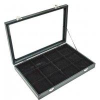 Кутия за бижута 12 квадрата с капак