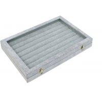 Кутия за пръстени с капак сива