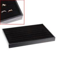Табла за пръстени черен велур