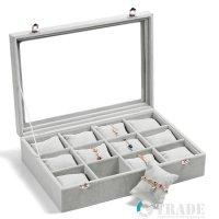 Кутия за бижута и часовници с възглавнички