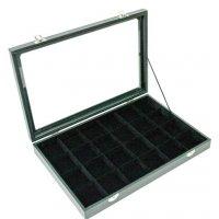 Кутия за бижута 24 квадрата с капак