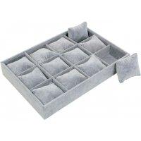 Табла за бижута с възглавнички сива