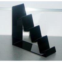 Поставка за 4 портмонета черна