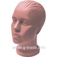 Глава дамска с къса шия телесен цвят