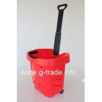 Пластмасова кошница за пазаруване на колела