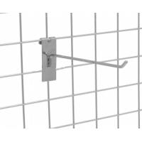 Кука за решетка с планка хром 10 см