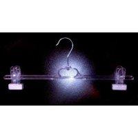 Прозрачна закачалка щипка силикон 38 см