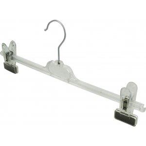 Прозрачна  закачалка щипка силикон 30 см