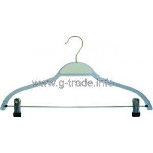 Прозрачна закачалка с щипка и  със силиконова лента на рамото